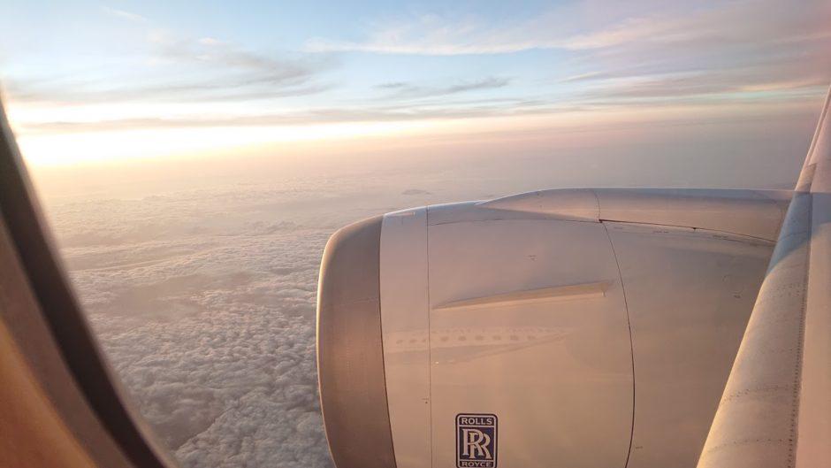 飛行機かtら見た空