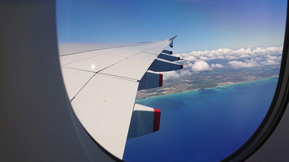 ハワイ上空
